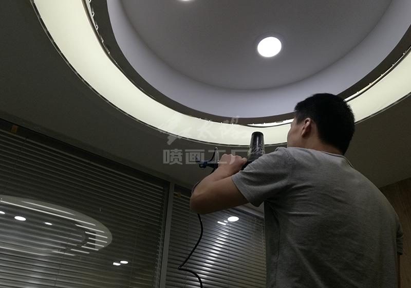办公室环形吊顶灯带-UV软膜天花