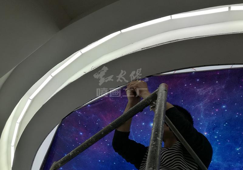 家装公司吊顶制作安装-UV软膜天花